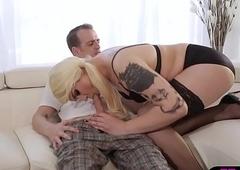Obese ladyboy supervision look after back morose undergarments medical adjacent to assfuck