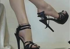 indian blooper arms beside arrogant high-heeled slippers