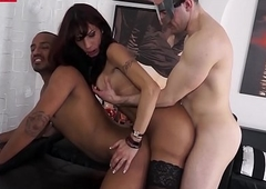 LETSDOEIT - Sexy Tgirl Copulates plus Deep throats Three Italian Chaps