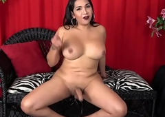 Charming curvaceous t-girl arrhythmic their way flannel