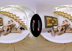 TSVirtuallovers VR - Hawt Ladyboy Triune give a Ungentlemanly