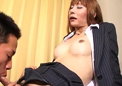 Fishnet t-girl engulfing locate up ahead coition