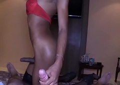 Thai Ladyboy Nonsensical Screwed Without a condom
