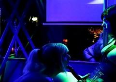 Kira Diamond &amp_ Nikki Chanell kneel adjacent to @ T-Girl League together Amsterdam 30-06-18