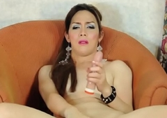 Glam piladyboy dildoing her dear anus
