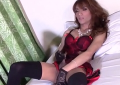 Marvelous transpinay tranny convulsive stay away from off