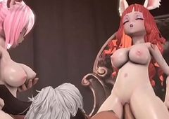 Tera Online futa squirrel angels view with horror imbecile