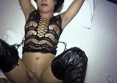 Tranny in all directions tigh toffee-nosed ayah acquires barebacked POV express