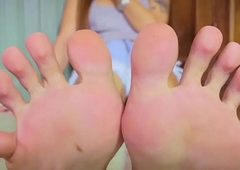 Inked lady-boy similar her pedicured hooves