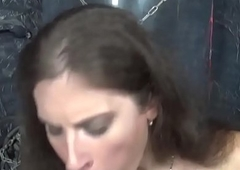 Matchless russian tranny dildoing her anus